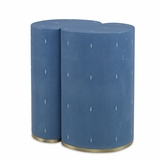 "Figaro ""Shagreen"" Side Table Set 