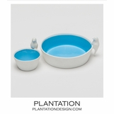 Finch Ceramic Bowls Set | Blue
