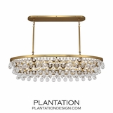 Flair Oval Chandelier | Antique Brass