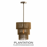 Flapper Chandelier | Antique Brass