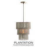 Flapper Chandelier | Vintage Nickel