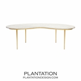 Fontana Marble Coffee Table | Gold