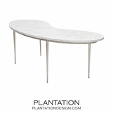 Fontana Marble Coffee Table | Warm Silver
