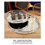 Foxworth Mirrored Trays Set | Round