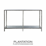 Gatsby Textured Console | Silver Leaf