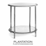Gatsby Textured Side Table | Silver Leaf