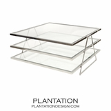 Giovanni Coffee Table | Nickel