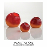 Giselle Ball Vases | Red-Orange