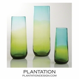 Giselle Column Vases | Blue-Green