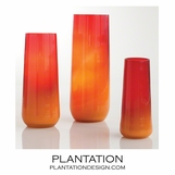 Giselle Column Vases | Red-Orange