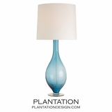 Halifax Glass Lamp | Blue