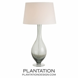 Halifax Glass Lamp | Grey