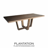 Hathaway Rect. Dining Table | Charcoal