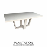 Hathaway Rect. Dining Table | White