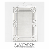 Helen Iron Mirror | White