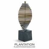 Helical Brass Sculpture