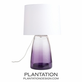 Horton Glass Lamp | Violet