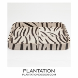 Houston Hide Tray | Zebra