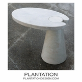 Hover Stone Side Table | White Marble
