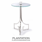 Icarus Iron Side Table | Nickel