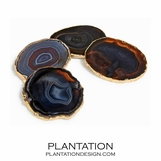 Karla Agate Coasters | Midnight