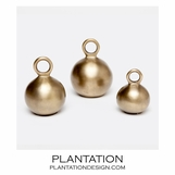 Kettlebell Sculptures Set | Gold