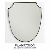 Kiley Mirror | Antique Brass