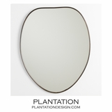 Kirby Mirror | Antique Brass