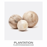 Kramer Wood Spheres Set | Light
