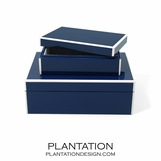 Lacquer Storage Boxes Set | Navy