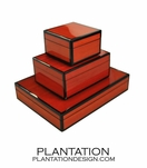 Lacquered Boxes | Red Tulipwood