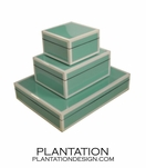Lacquered Boxes | Robin's Egg Blue