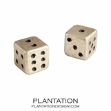 Lady Luck Dice | Silver Leaf