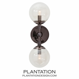 Laird Double Sconce | Brown Nickel