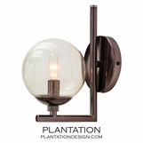 Laird Sconce | Brown Nickel