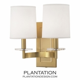 Landry Double Sconce | Antique Brass