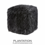 "Leather, ""Fur"", & Cowhide Stools"