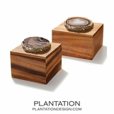 Legno Boxes | Natural Agate & Gold