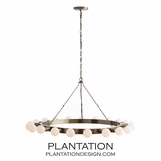 Linden Metal Chandelier | Brass