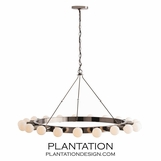 Linden Metal Chandelier | Brown Nickel