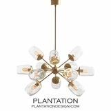 Livingston Antique Brass Chandelier