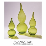 Lombard Gourd Vases | Green