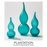 Lombard Gourd Vases | Teal