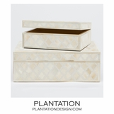 Lucia Bone Boxes Set | Cream