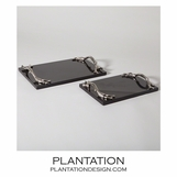 Manolo Trays | Black Granite & Nickel