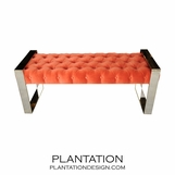 Matador Tufted Bench | Nickel