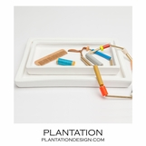 Monterey Ceramic Trays Set | White