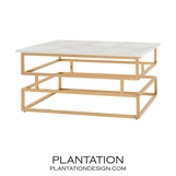Myron Brass Coffee Table