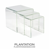 Nilas Glass Nesting Tables