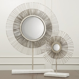 Nimbus Starburst Table Mirrors | Nickel